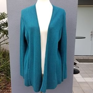 EUC Talbots Open Cardigan Sweater Size Large L